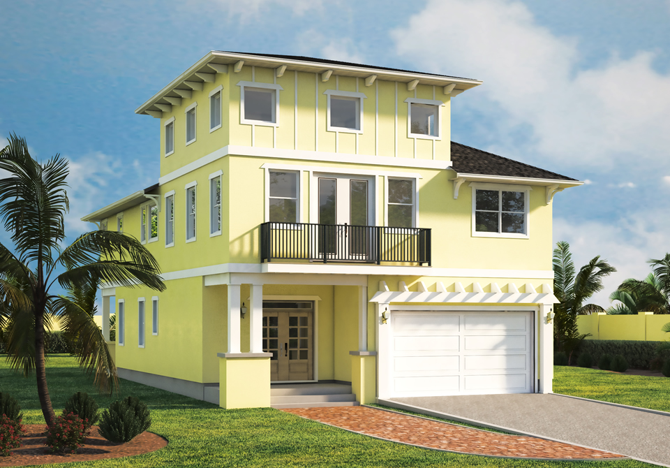 South Tampa Home Builders Seabreeze Front Render
